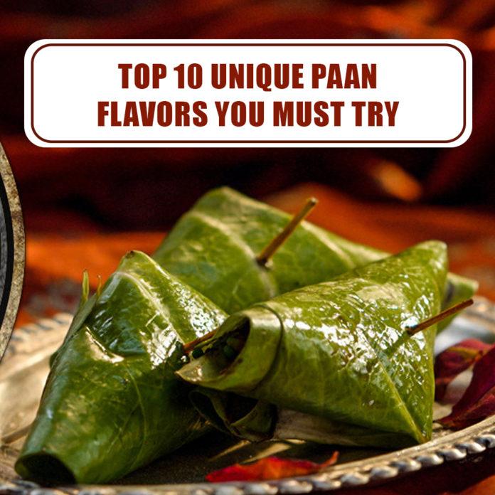 Top 10 Unique Paan Flavours